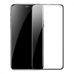Протектор за iPhone X/ XS /11 Pro  Baseus  Full-Screen, Full-glass 0.3мм T-Glass Черен