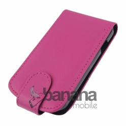 Розов кожен калъф отварящ се нагоре за HTC Desire 200