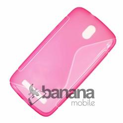 Розов прозрачен силиконов гръб/калъф/протектор/кейс за HTC Desire 500