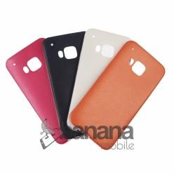 Цветен кожен силиконов гръб/калъф/протектор/кейс за HTC one M9
