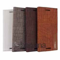 Цветен кожен калъф тип тефтер змийска кожа с активен капак за HTC one M9