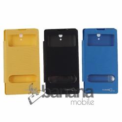 Цветен калъф тип тефтер с активен капак за Huawei Ascend G700