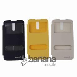 Цветен калъф тип тефтер с активен капак за Huawei Ascend G710