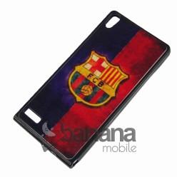 Силиконов гръб/калъф/протектор/кейс FC Barcelona за Huawei Ascend P6