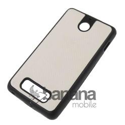 Бял пластмасов гръб/калъф/протектор/кейс за Sony Xperia E1