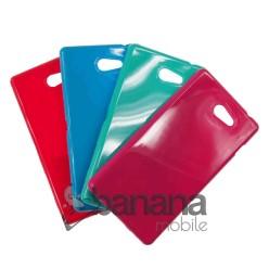 Цветен силиконов гръб/калъф/протектор/кейс за Sony Xperia M2