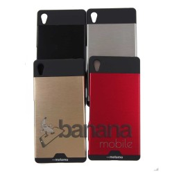 Цветен пластмасов гръб/калъф/протектор/кейс с алуминиево покритие Momoto за Sony Xperia Z4