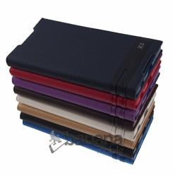 Цветен кожен калъф тип тефтер за Sony Xperia Z5