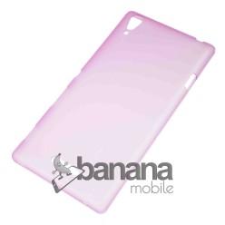 """Цветен супер тънък силиконов калъф/гръб/кейс """"Spada""""  за Sony Xperia Т3"""
