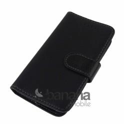Nokia E72 Черен кожен калъф тип тефтер