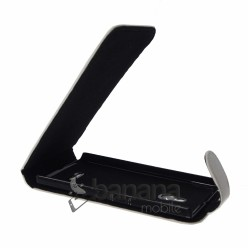 Nokia XL Черен кожен калъф тип флип