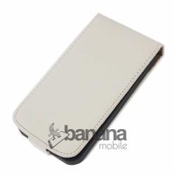 Nokia Lumia 530 Бял кожен калъф тип флип
