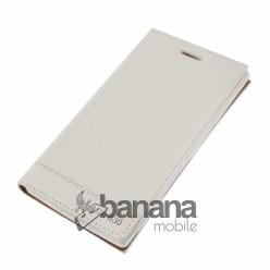 Nokia Lumia 830  Бял кожен калъф тип тефтер с активен капак