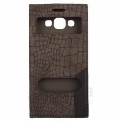Кожен калъф тип тефтер змийска кожа с активен капак за Samsung  Galaxy E5