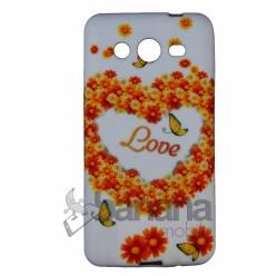 Силиконов калъф с картинка Цветя за Samsung Galaxy Core II