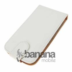 Samsung Galaxy Express Бял кожен калъф тип флип