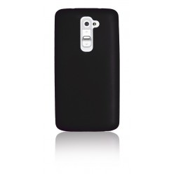"""Цветен супер тънък силиконов калъф/гръб/кейс """"Spada"""" за LG G2 - Черен"""