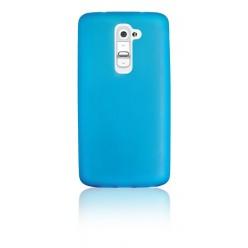 """Цветен супер тънък силиконов калъф/гръб/кейс """"Spada""""  за LG G2 - Син"""