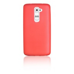 """Цветен супер тънък силиконов калъф/гръб/кейс """"Spada"""" за LG G2 - Оранжев"""