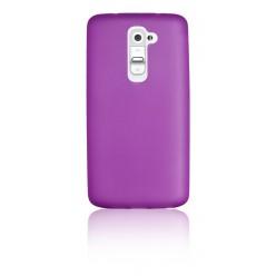 """Цветен супер тънък силиконов калъф/гръб/кейс  """"Spada""""  за LG G2 - Лилав"""