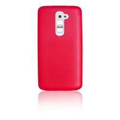 """Цветен супер тънък силиконов калъф/гръб/кейс """"Spada"""" за LG G2 - Червен"""